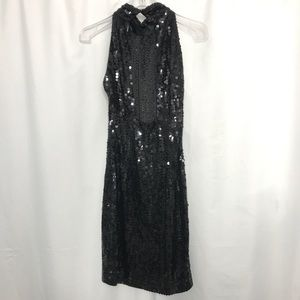 Vintage Dresses - Night Line Vintage Sequin Cocktail Dress Halter